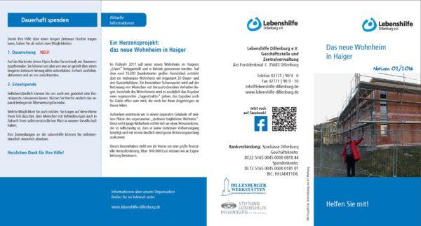 Spenden; Notizen; Wohnheim