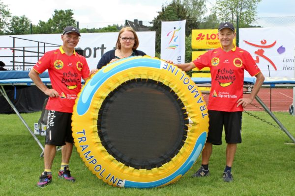 Happy Bananas; Sporthilfe; Trampolin; Kita