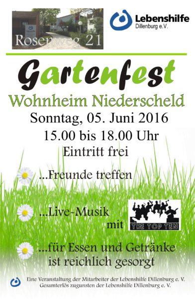 Einladung; Gartenfest; Niederscheld