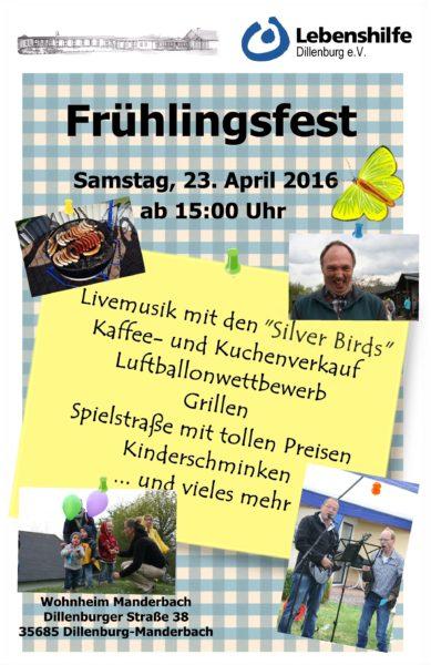Einladung; Frühlingsfest; Manderbach